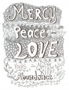 Mercy Peace and Love, Artistic Expression by Grace Wulff