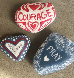 rocks with words