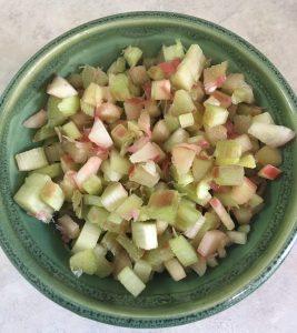 rhubarb cut