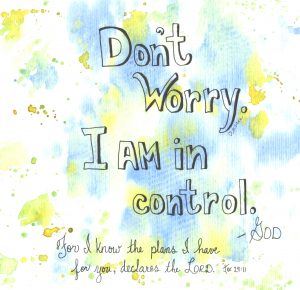 Don't Worry. I am in control.
