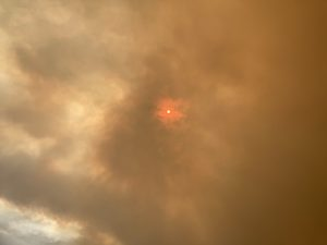 A smoke filled sky